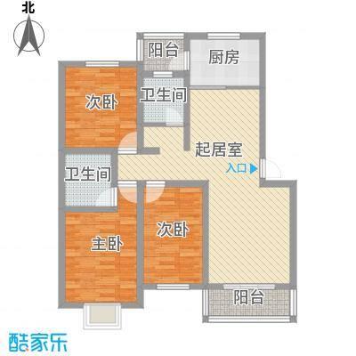 霞光苑115.00㎡户型3室