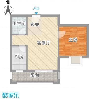 丽园馨都户型1室1厅2卫1厨