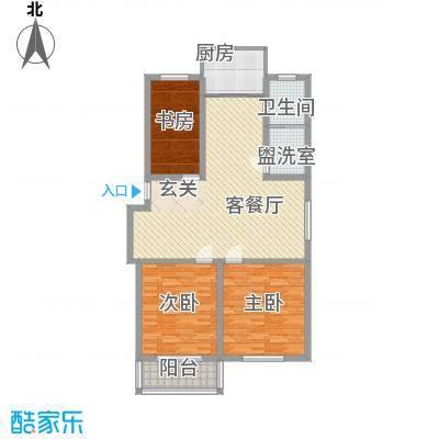 兴盛豪庭115.00㎡一期11号楼标准层C户型3室2厅1卫1厨