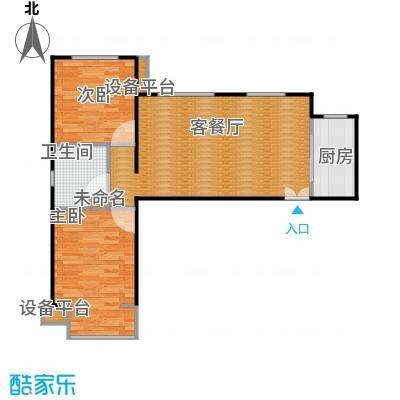 龙湖大方居87.33C9户型两室两厅-副本