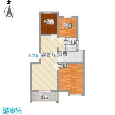 恒茂福泽园15.00㎡户型2室