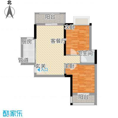 建东大厦户型2室1厅1卫1厨