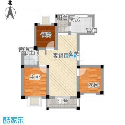 凤凰新村67.00㎡户型3室1厅1卫1厨