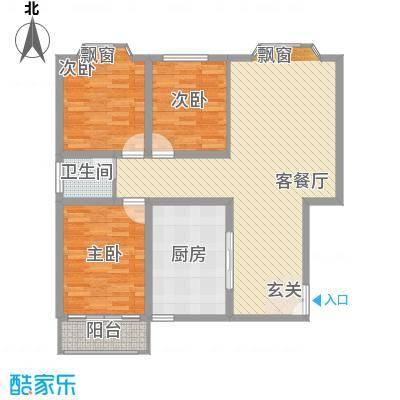 美景山庄11.00㎡户型3室
