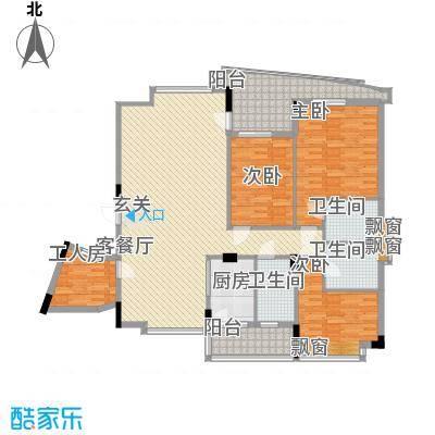 名门豪苑123.00㎡M型户型3室2厅1厨