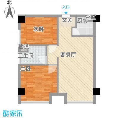 绿城绿园户型2室2厅1卫1厨