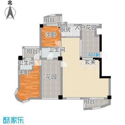 锦辉国际花园125.00㎡6#楼标准层01-04单元A1-A4户型2室2厅2卫1厨