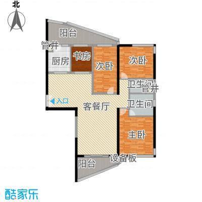 格力广场3期将军山182.40㎡21栋01户型4室2厅2卫1厨