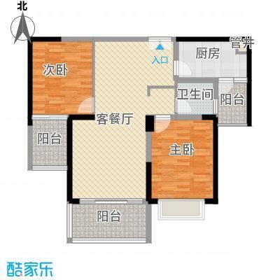 格力广场3期将军山11.66㎡19栋02户型2室2厅1卫1厨