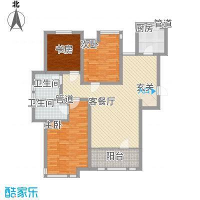 中港花园一期户型3室