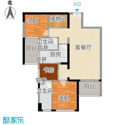 格力广场3期将军山124.70㎡22栋033-43F户型3室2厅2卫1厨