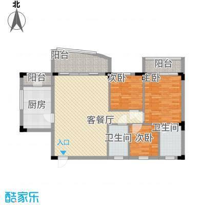 侨苑山庄123.00㎡户型3室