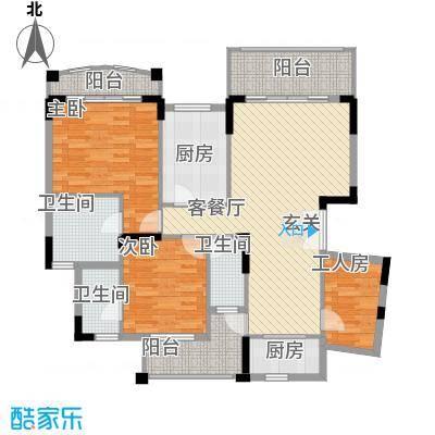 纯水岸花园146.00㎡5座a户型4室2厅3卫1厨