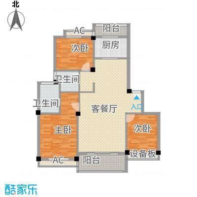 古城新境121.00㎡多层中间户型3室1厅1卫1厨