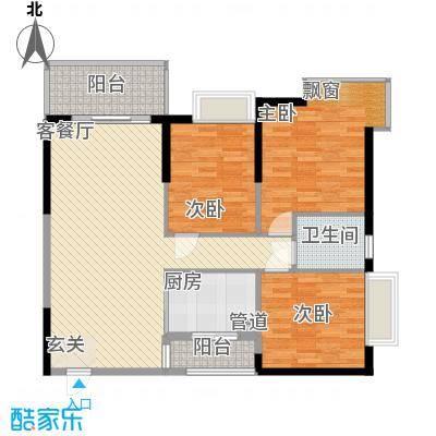 翠香茗庭4号房户型