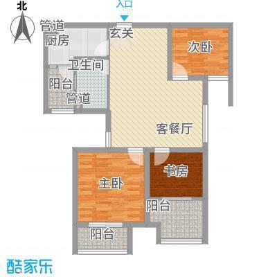 御东领岸户型3室