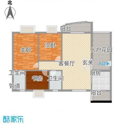 皇龙新城9#-C户型3室2厅2卫1厨