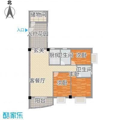 皇龙新城9#-F户型4室2厅2卫1厨