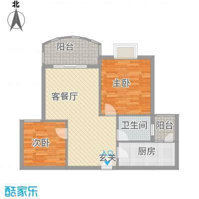皇龙新城11#-B户型2室2厅1卫1厨