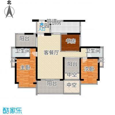 金光华龙岸花园128.00㎡2期4/5栋E+F双湖大宅户型