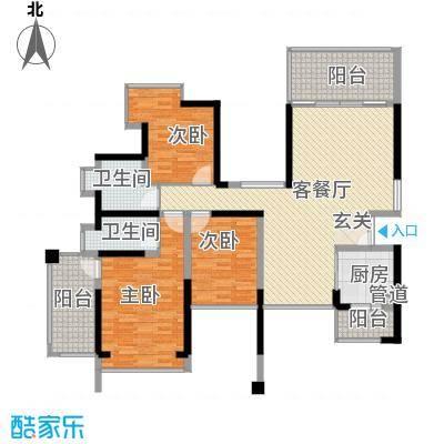 金光华龙岸花园124.00㎡2期6栋A+B双湖大宅户型