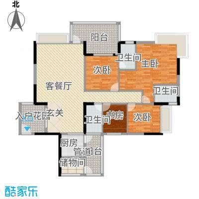 帝景蓝湾134.00㎡户型3室2厅3卫