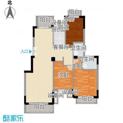 市政天元城118.00㎡户型3室