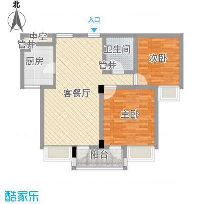 西城十二庭院88.00㎡户型2室2厅1卫