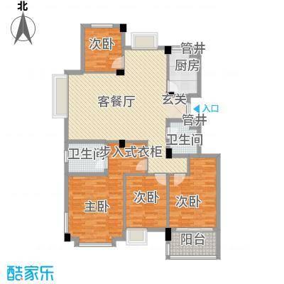 西城十二庭院138.00㎡户型4室2厅2卫