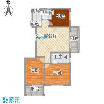 新锐领地125.37㎡一期A5楼一单元01室户型3室2厅2卫1厨