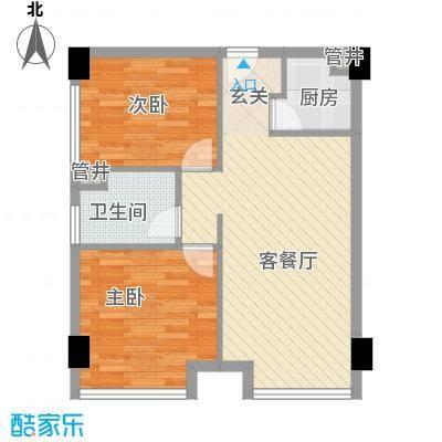 慈湖人家户型2室2厅1卫1厨