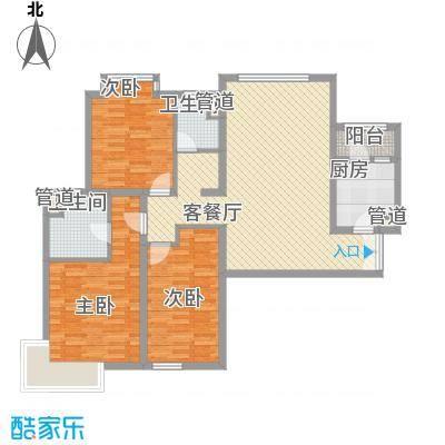 嘉湖山庄户型3室