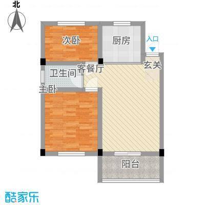 华城新村8.00㎡二期9号楼标准层C户型2室2厅1卫1厨