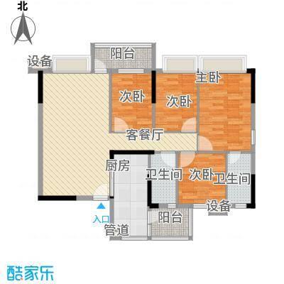 蓝色海岸112.20㎡E座二-二十六层01户型4室2厅2卫