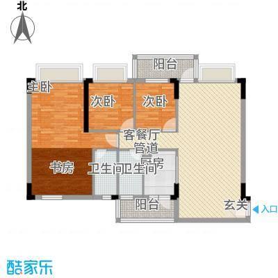 蓝色海岸128.20㎡D座二-二十六层02户型3室2厅2卫