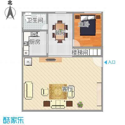 长沙新苑精装复式一楼户型图-副本