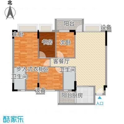 蓝色海岸114.00㎡E座二-二十六层04户型4室2厅2卫