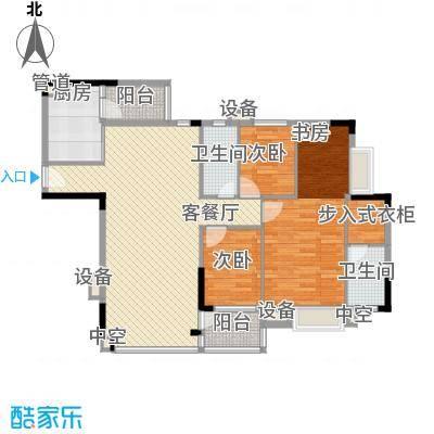 蓝色海岸116.40㎡C座二-二十六层03户型3室2厅2卫