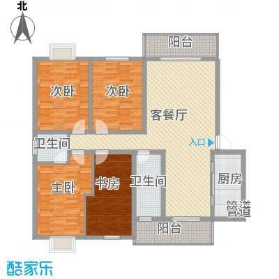 南湖春城花园户型4室