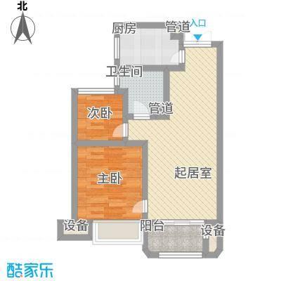 金浦御龙湾68.00㎡一期高层标准层B1户型