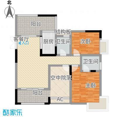 国奥村二期6-8号楼标准层D3户型