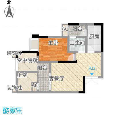 国奥村二期6-8号楼标准层D2户型