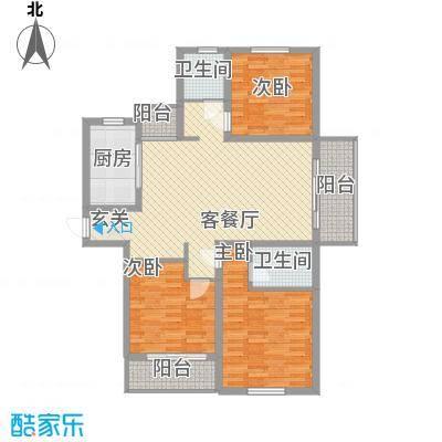 南洋国际商城136.54㎡B3户型3室2厅2卫1厨