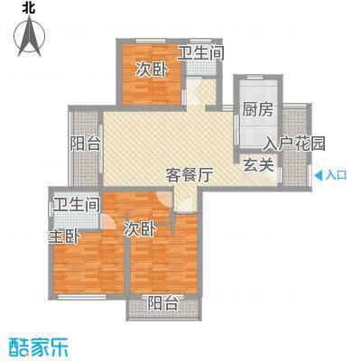 南洋国际商城135.27㎡C1/4户型3室2厅2卫1厨