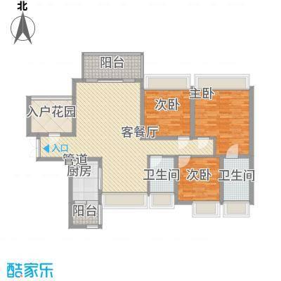 太平广场花园8.00㎡户型3室