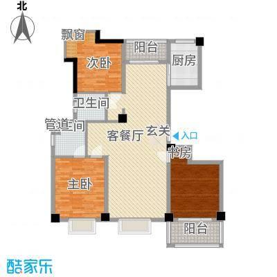 天赐佳园136.00㎡L型户型3室2厅2卫1厨