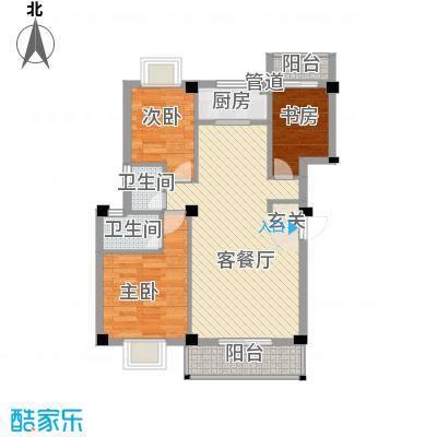 长欣花园88.00㎡户型2室