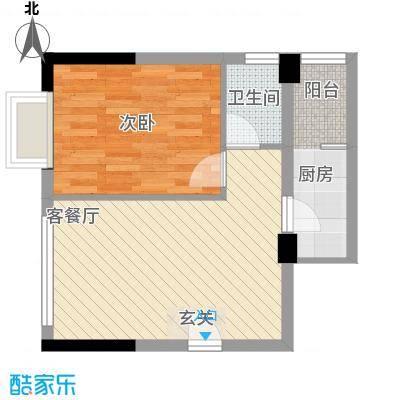 新雅名轩8.00㎡09户型2室2厅1卫1厨