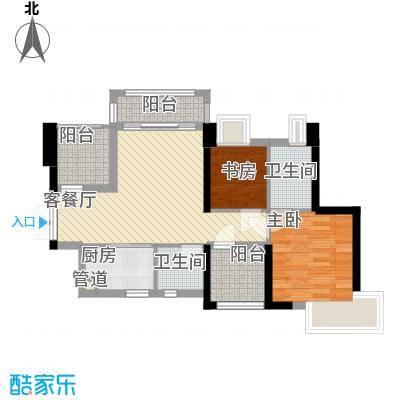 深业东城御园88.00㎡户型3室
