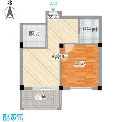 金海嘉园56.00㎡F户型1室1厅1卫1厨